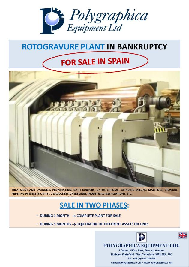 Rotogravure Plant For Sale